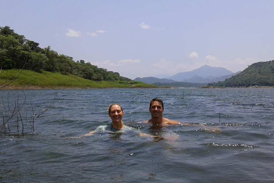 Swimming and Fishing at Lake Victoria